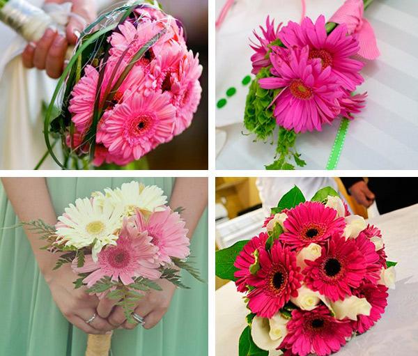 Просматривая свадебные цветы в каталоге нашего салона, вы непременно вдохновитесь на идеальный букет из гербер для себя.